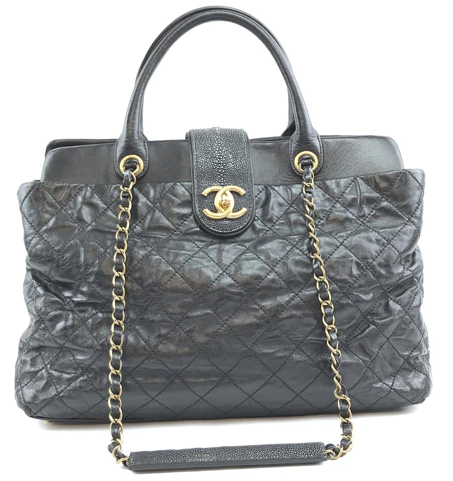 Chanel Bindi Black Calfskin Leather