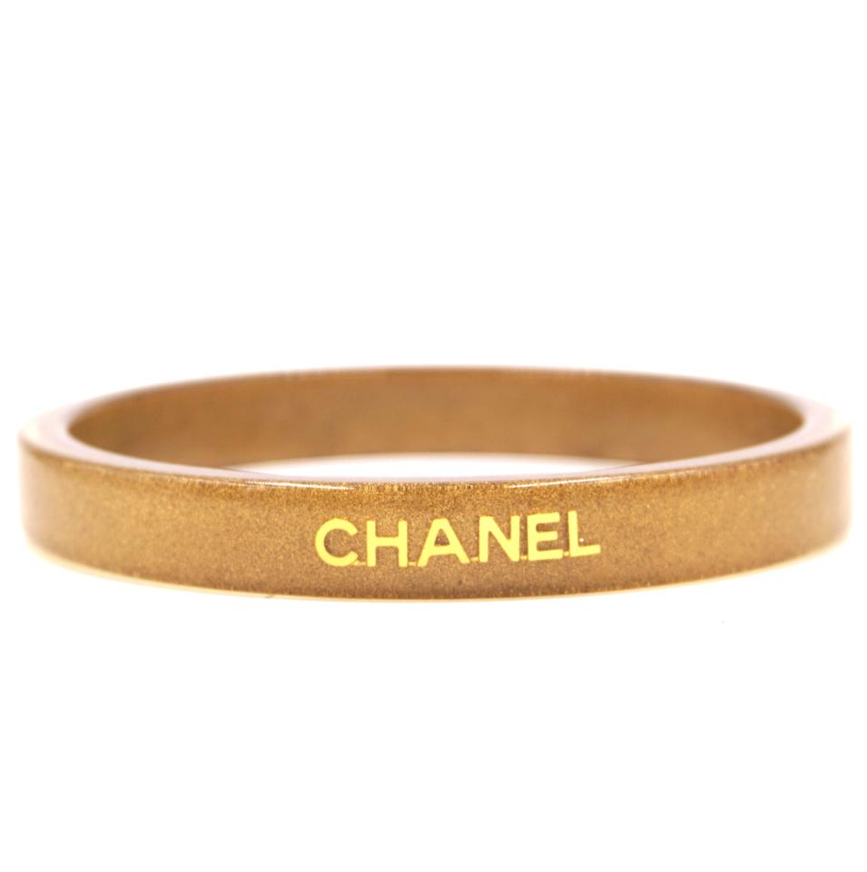Chanel CC Logo Inlay Bangle