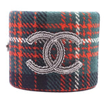Chanel Multicolor CC Tweed Extra Wide Cuff
