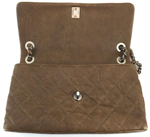 Chanel Single Flap Brown Leather