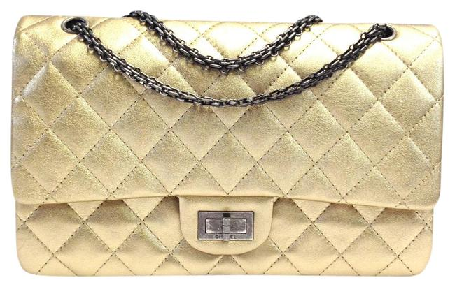 Chanel 2.55 Reissue Oxidized Metallic Gold Leather