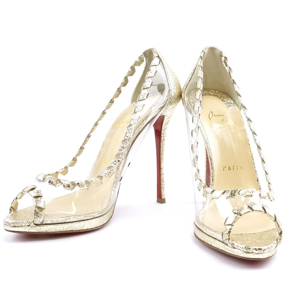 Christian Louboutin Clear Hargaret See-through Pumps