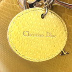 Dior Lady Yellow Python Skin Leather