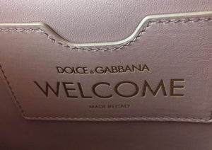Dolce&Gabbana Top Handle Blue Leather