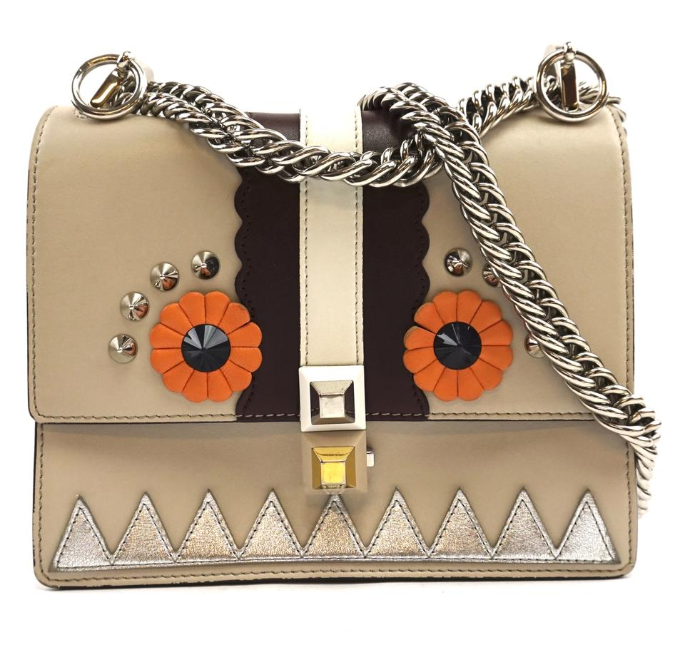 Fendi Kan I Faces Monster Multicolor Leather