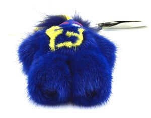 Fendi Blue Peekaboo Monster Fur Doll Charm