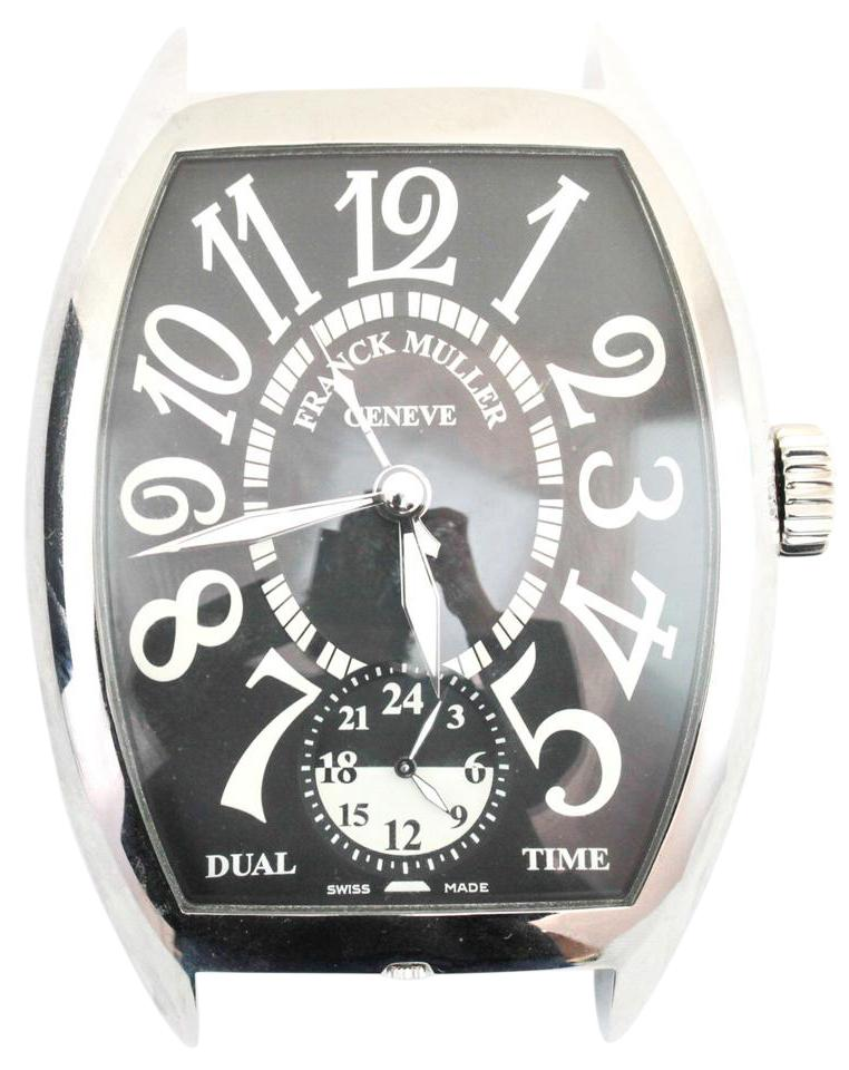Franck Muller Silver Large Two Time Zone Table Watch