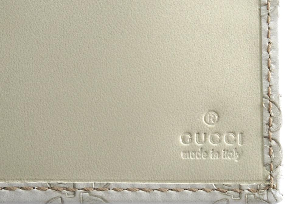 Gucci Gg Leather Flap Long Detachable Gold Chain Wallet