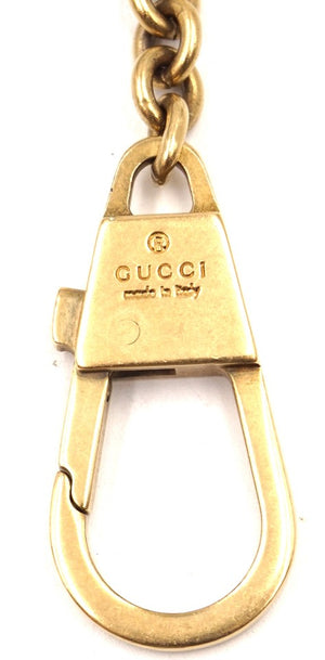 Gucci GG Soho Logo Studs Key Cles Chain Clasp Coin Wallet