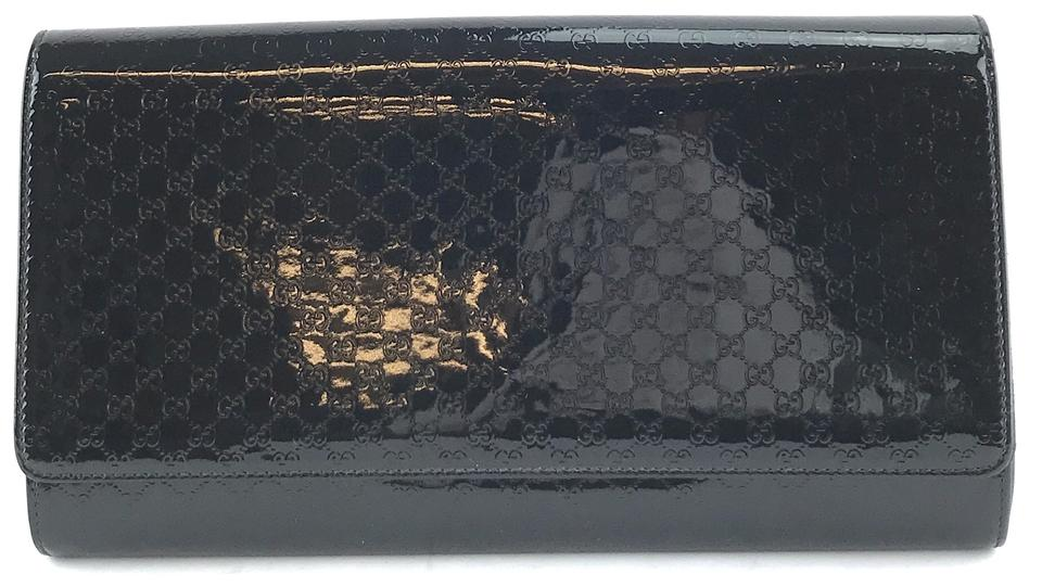 Gucci Evening Bag Black Patent Leather