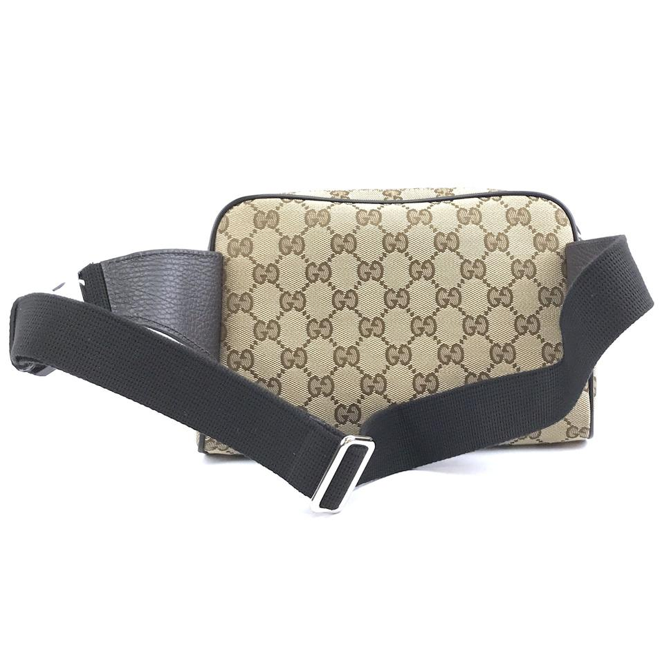 431533c55 Authentic Gucci Bum bag Waist Fanny Pack Brown Canvas - Luxcellent ...