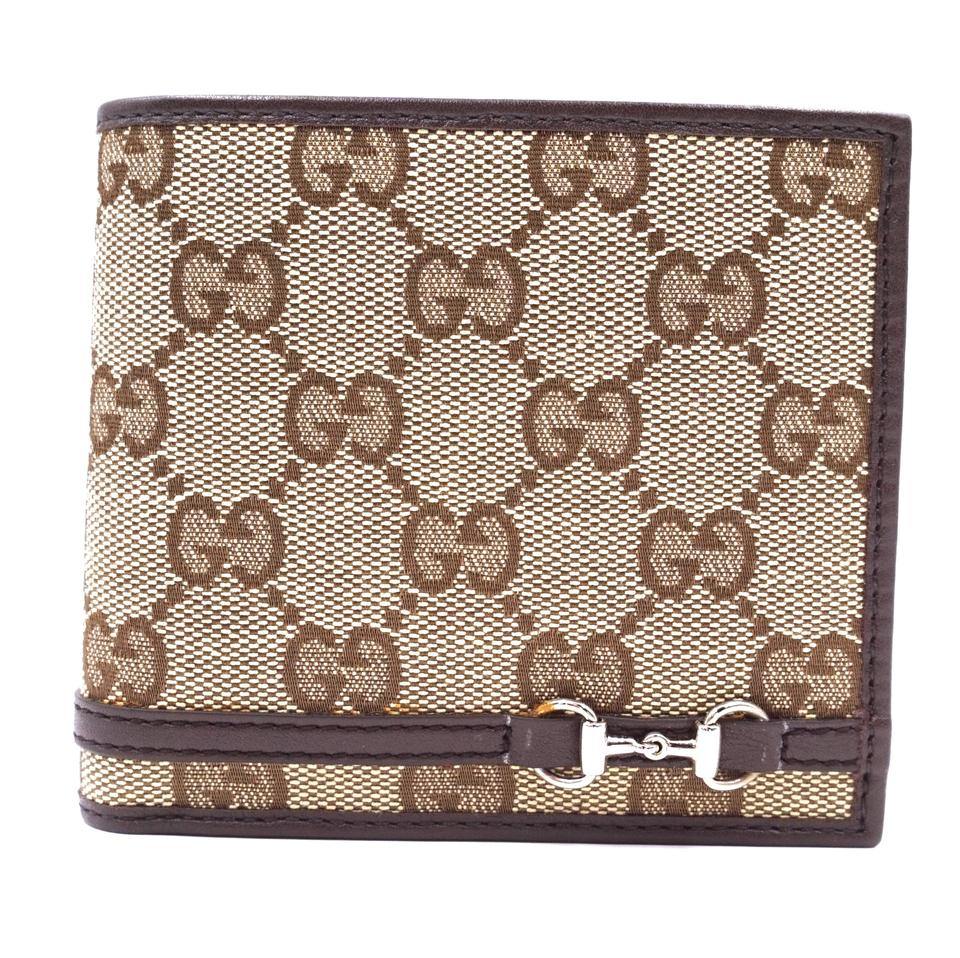 Gucci Brown GG Bifold Classic Wallet