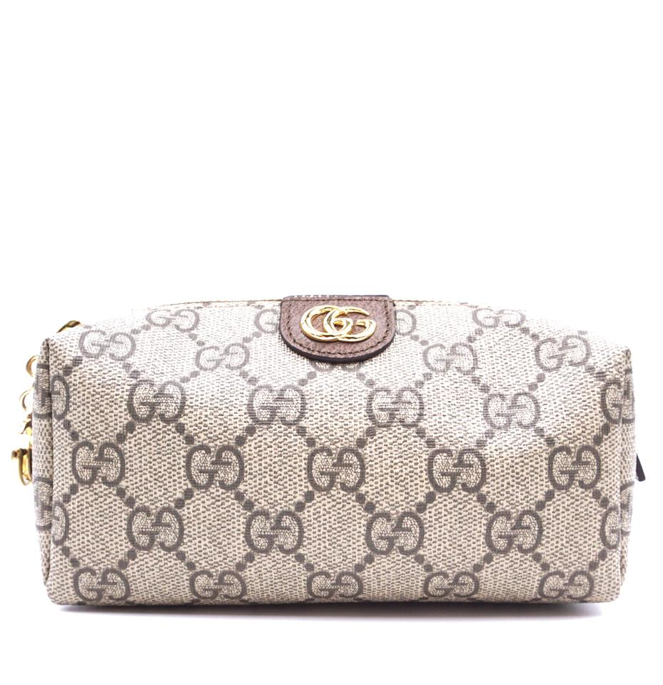 Gucci Ophidia Cosmetic Case GG Marmont Brown Canvas