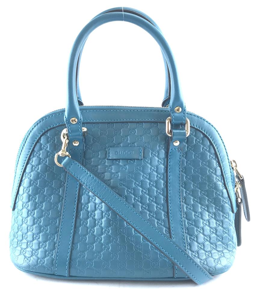 Gucci Dome Mini GG Blue Leather