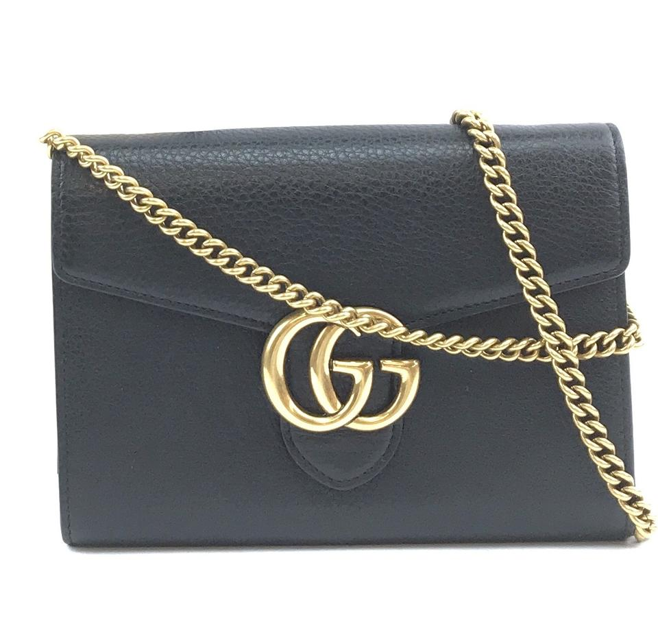 Gucci Marmont Compact Wallet Black Leather