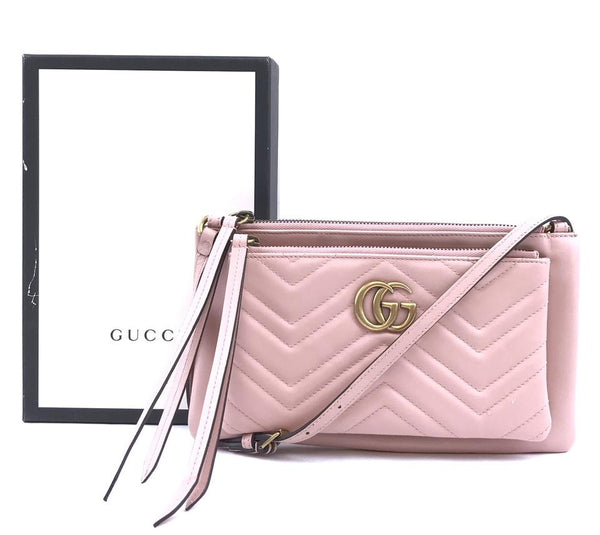 bf3ffe52672ebc Gucci Marmont Pochette Pink Leather; Gucci Marmont Pochette Pink Leather ...