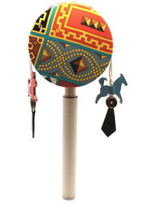 Hermes Multicolor Petit H Chinese Rattle Ocean Drum