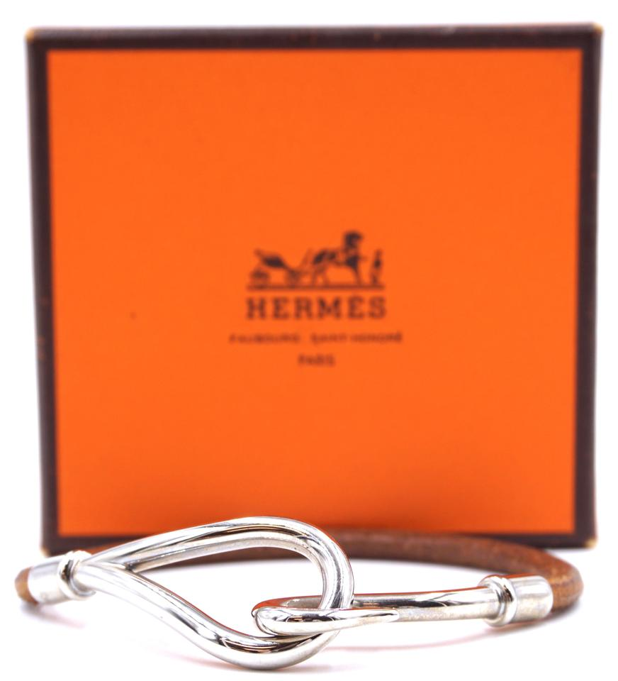 Hermes Jumbo Single Tour Hook Leather Bracelet
