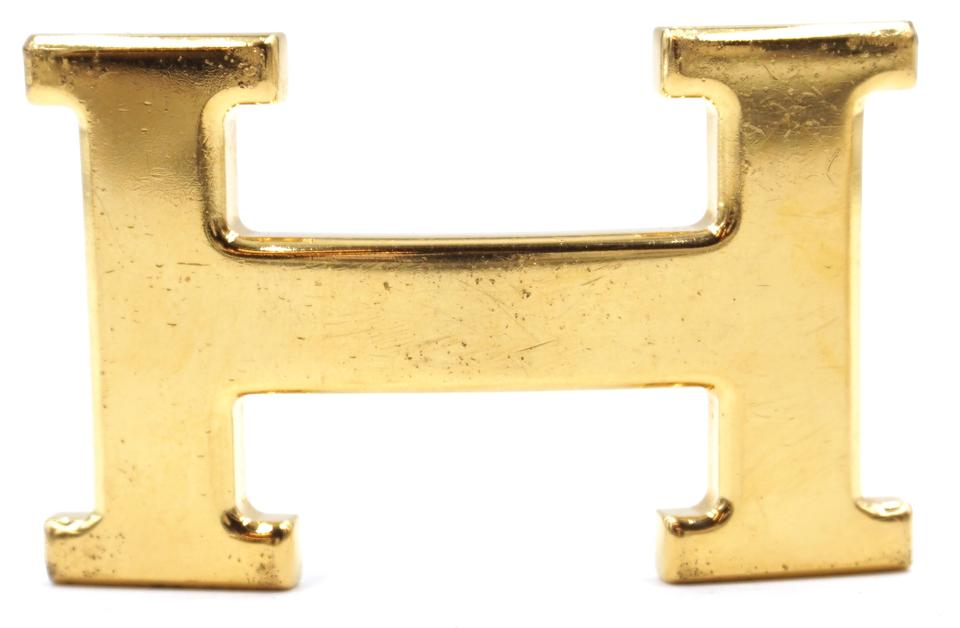 Gold 32mm H Logo Buckle