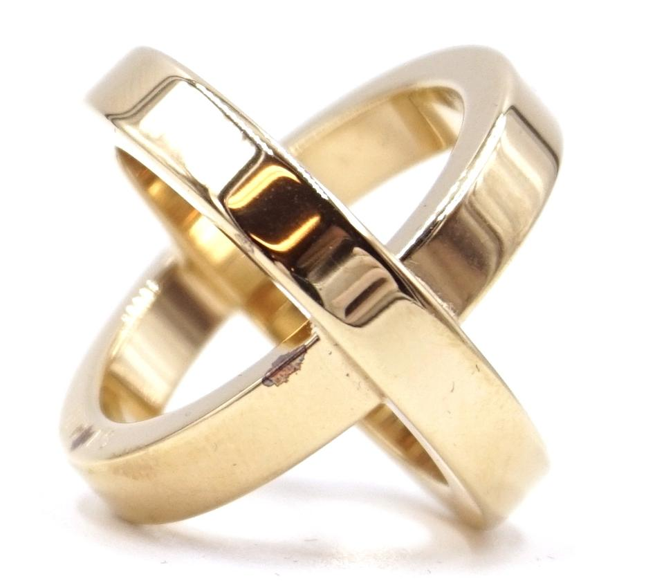 Double Scarf Round Gold Ring