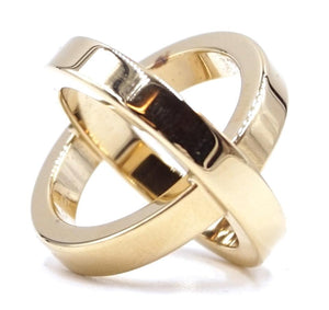 Hermes Double Scarf Round Gold Ring