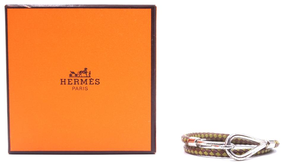 Hermes Double Tour Hook Wove Bracelet