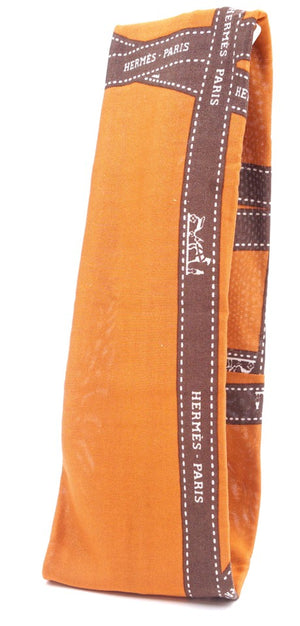 Hermès Bolduc Silk Logo Of Ribbon Headband