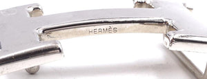 Hermes 32mm Silver H Reversible Leather Size 75 Belt