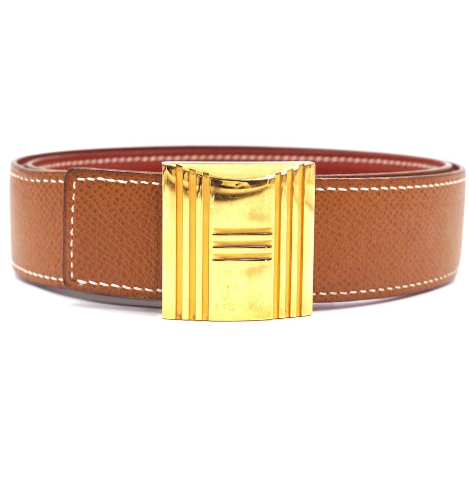 Hermes 32mm H Lock Size 70 Reversible Leather Belt