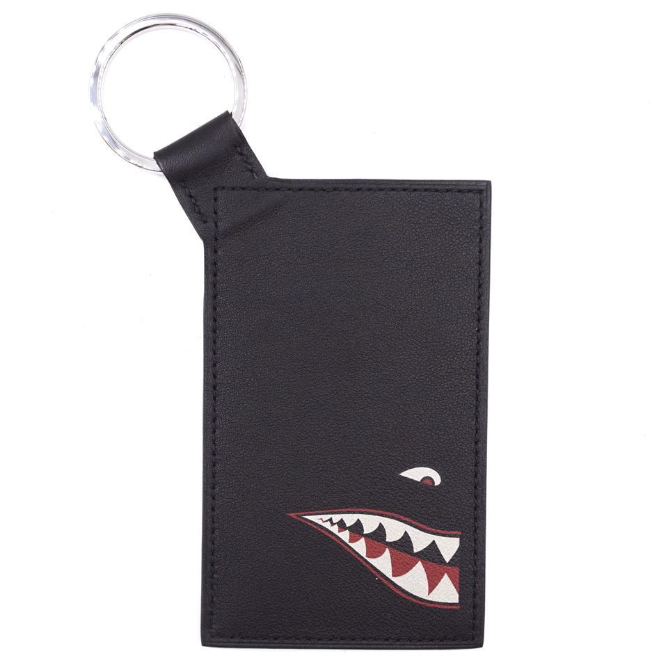 Hermès Black Citypass Shark Badge Card Case