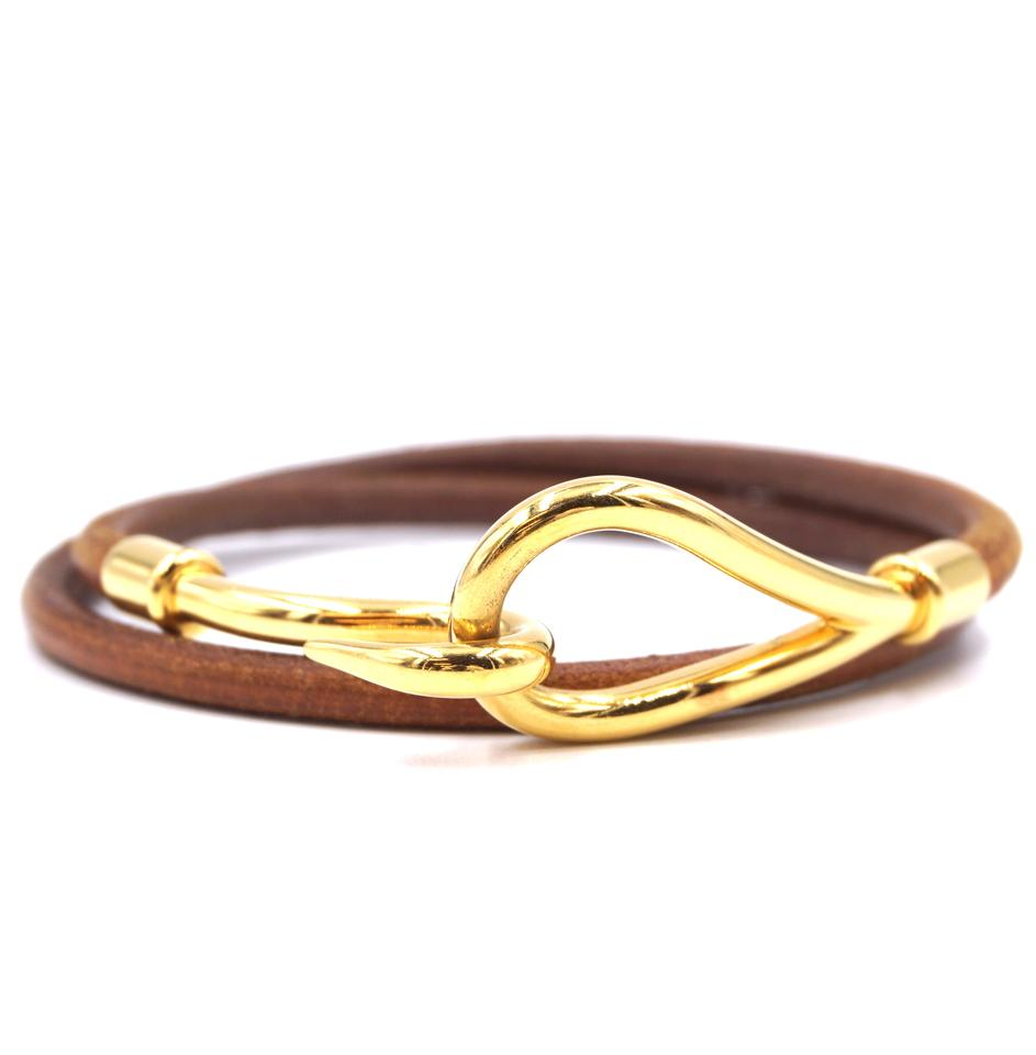 Hermès Jumbo Double Tour Hook Leather Bracelet
