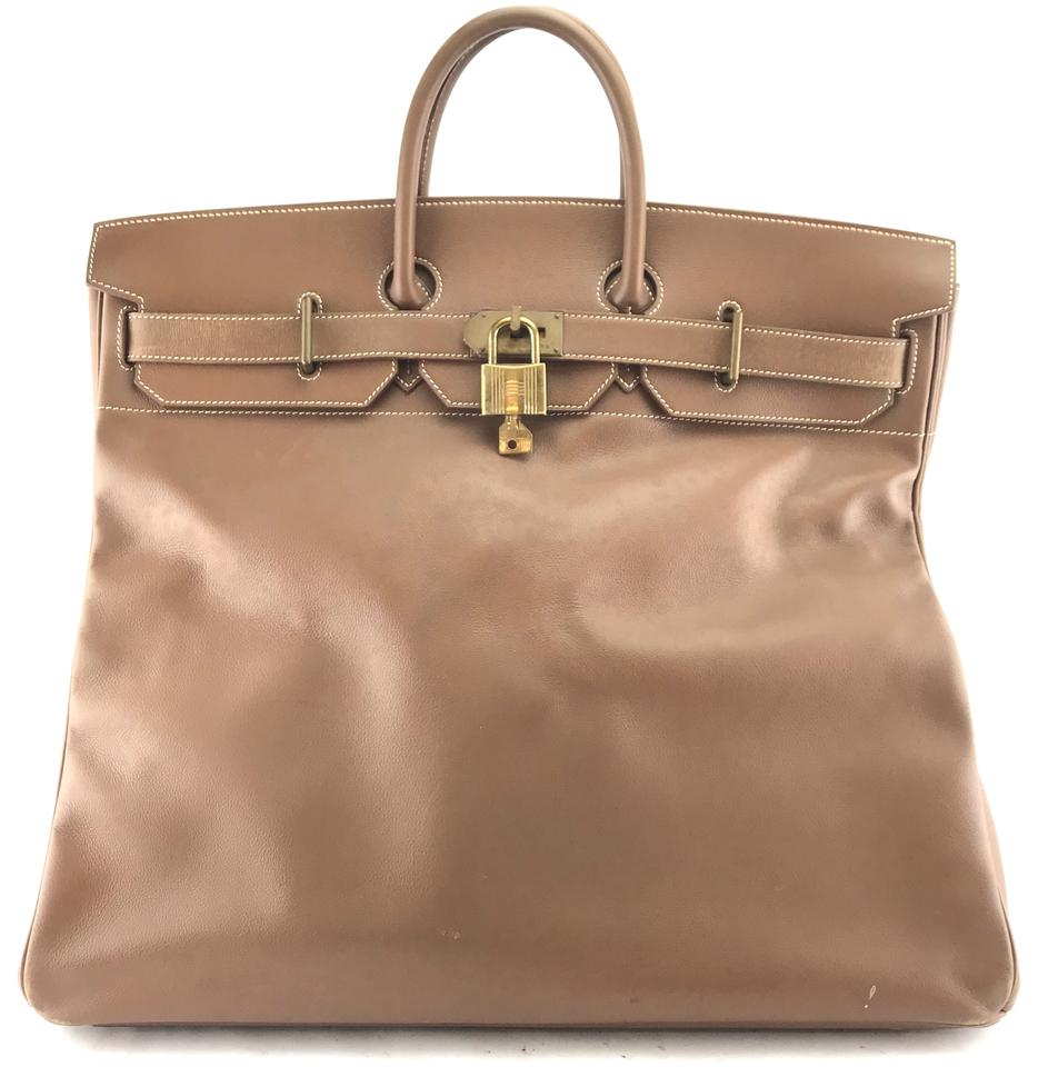 Hermes Brown Leather Birkin 50 Satchel