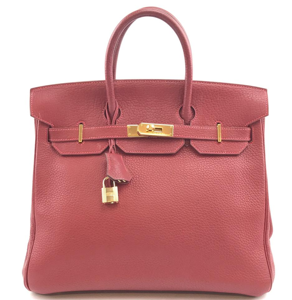 Hermès Birkin 32 Hac Red Clemence Leather