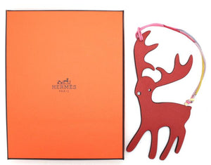 Hermes Petit H Stag Buck Leather Bags Charm