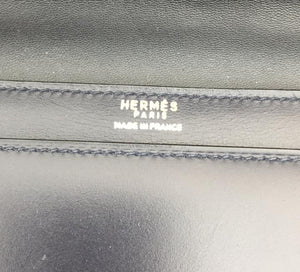 Hermes Evening Bag Eugene Blue Leather