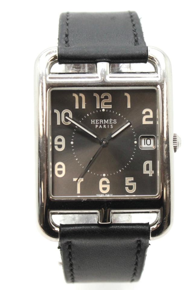 Hermès Silver Black Quarz Cope Cod Men Womrn Watch