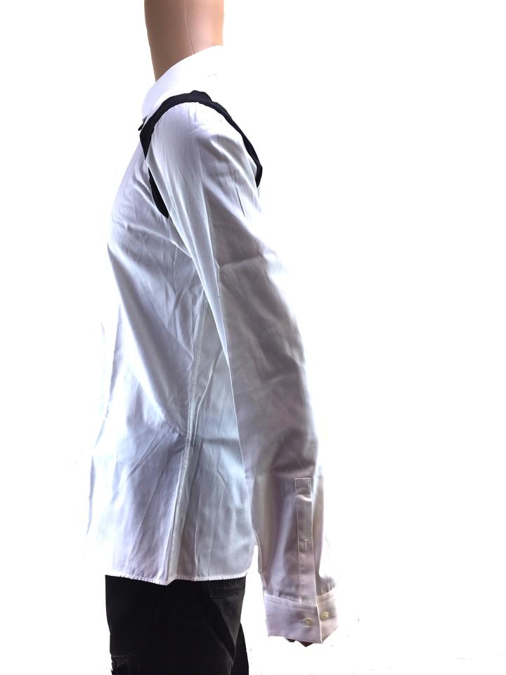 Hugo Boss White Removable Bowtie Shirt For Men Size XL