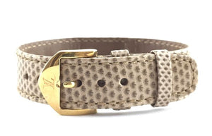 Louis Vuitton Ombre Lizard Skin Leather Bracelet