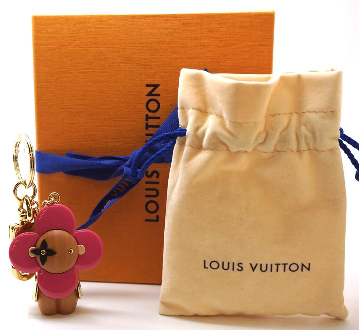 Louis Vuitton Monogram LV Logo Vivienne Key Charm