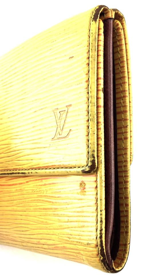 Louis Vuitton Yellow Epi Monogram Bifold Wallet