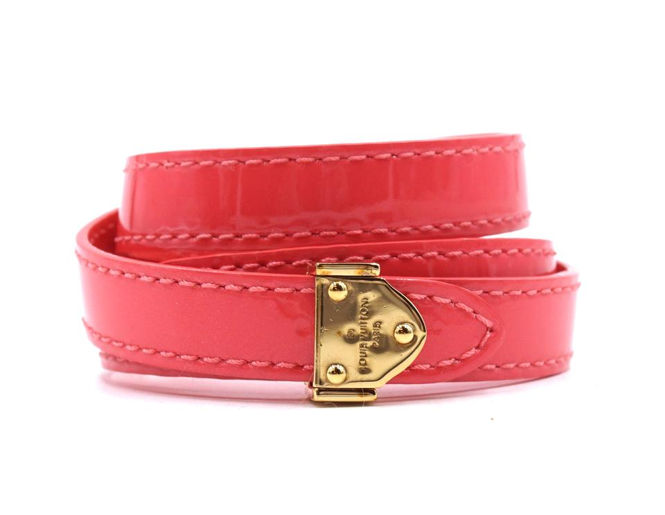 Louis Vuitton Hot Pink LV Triple Tour Box It Bracelet Size 17