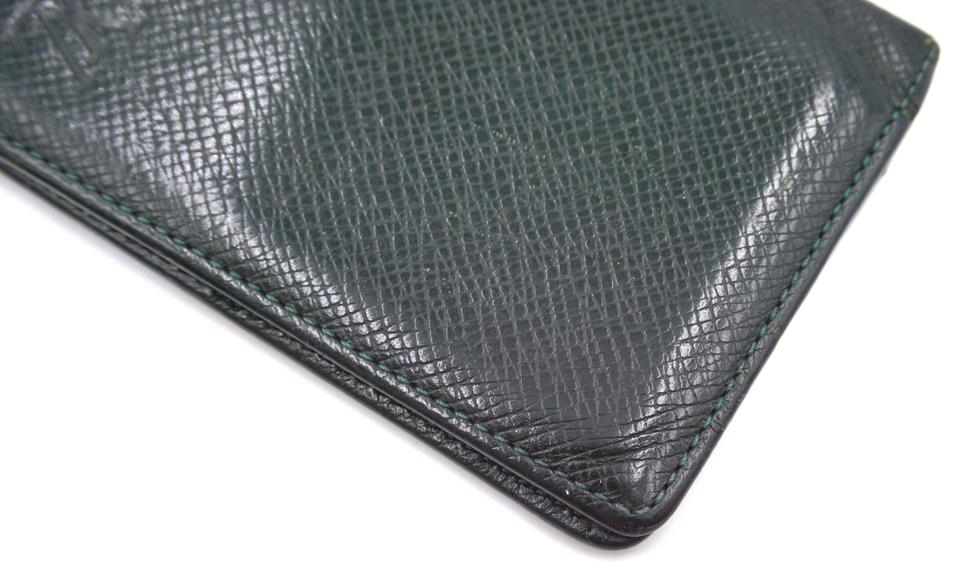 Louis Vuitton Taiga Bifold Card Holder Pocket Organizer Wallet