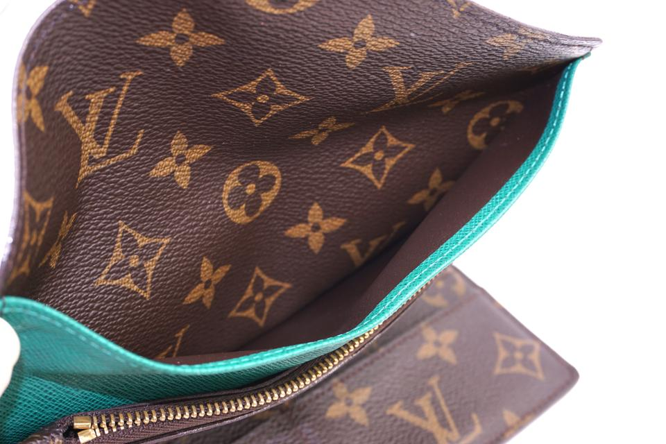 Louis Vuitton Monogram With Insert Interior Trifold Pocket Long Wallet
