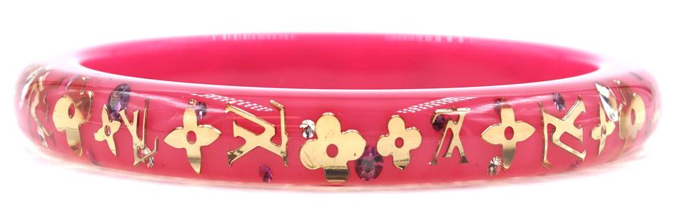 Louis Vuitton Monogram Inclusion Flowers Logo Bangle