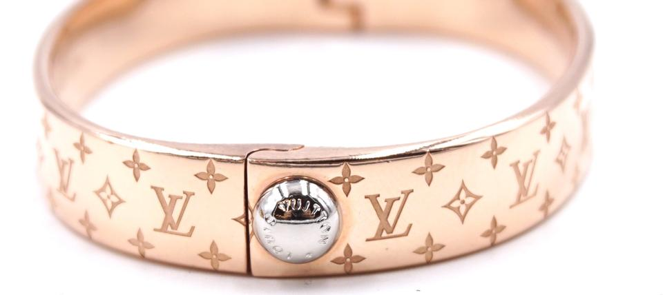 Louis Vuitton Monogram Hardware Bangle Size S Bracelet
