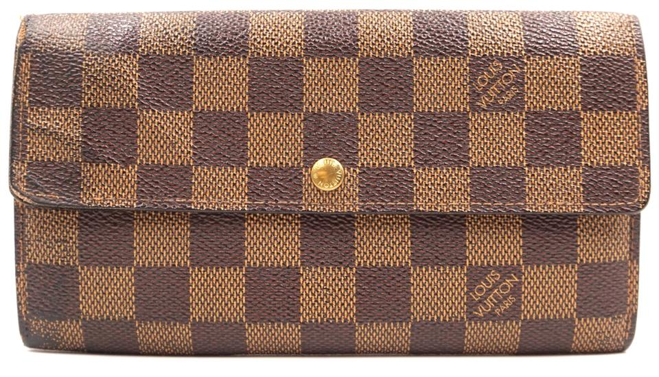 Damier Ebene Sarah Long Flap Wallet