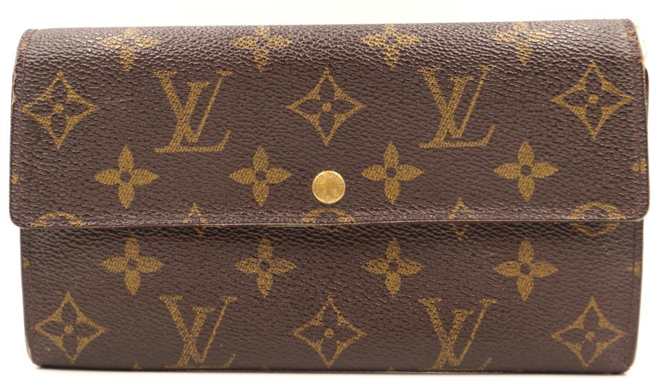 Monogram Sarah Vintage Long Flap Wallet