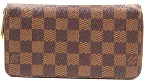 Louis Vuitton Damier Ebene Zip Around Long Wallet