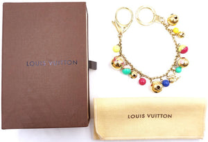Louis Vuitton Monogram Lv Logo Key Ring Chain