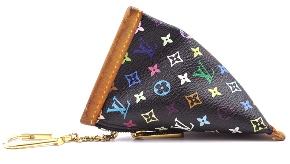 Louis Vuitton Black Multicolor Monogram Coin Case with Clasp Wallet